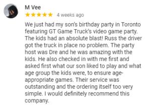 Customer testimonial on Google on July 2019